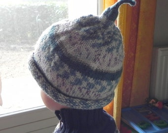 French Elfish Magic Child's Ski Hat Pattern PDF