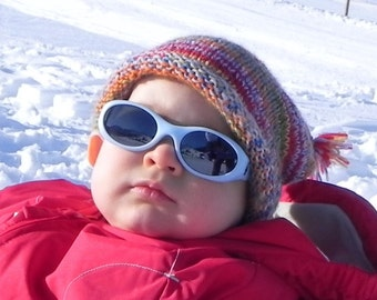 Baby or Toddler's French Alpine Stocking Cap Pattern PDF