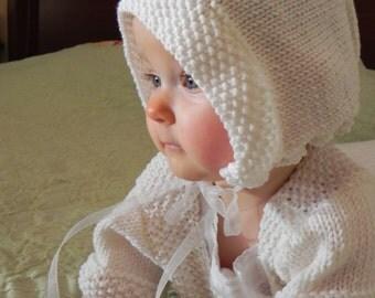 Traditional French Baby Bonnet Knitting Pattern PDF