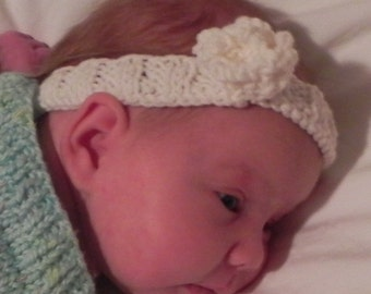 Fleur d'Ange Baby and Toddler Headband Knitting Pattern PDF