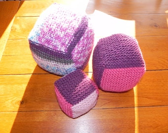 Baby's Soft Stackable Knit Cubes Pattern PDF