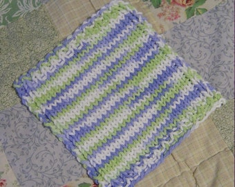 Hand Knit Baby Washcloth Pattern PDF
