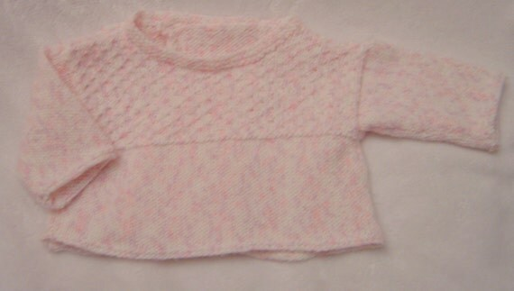 French Little Knit Baby Top Pattern PDF