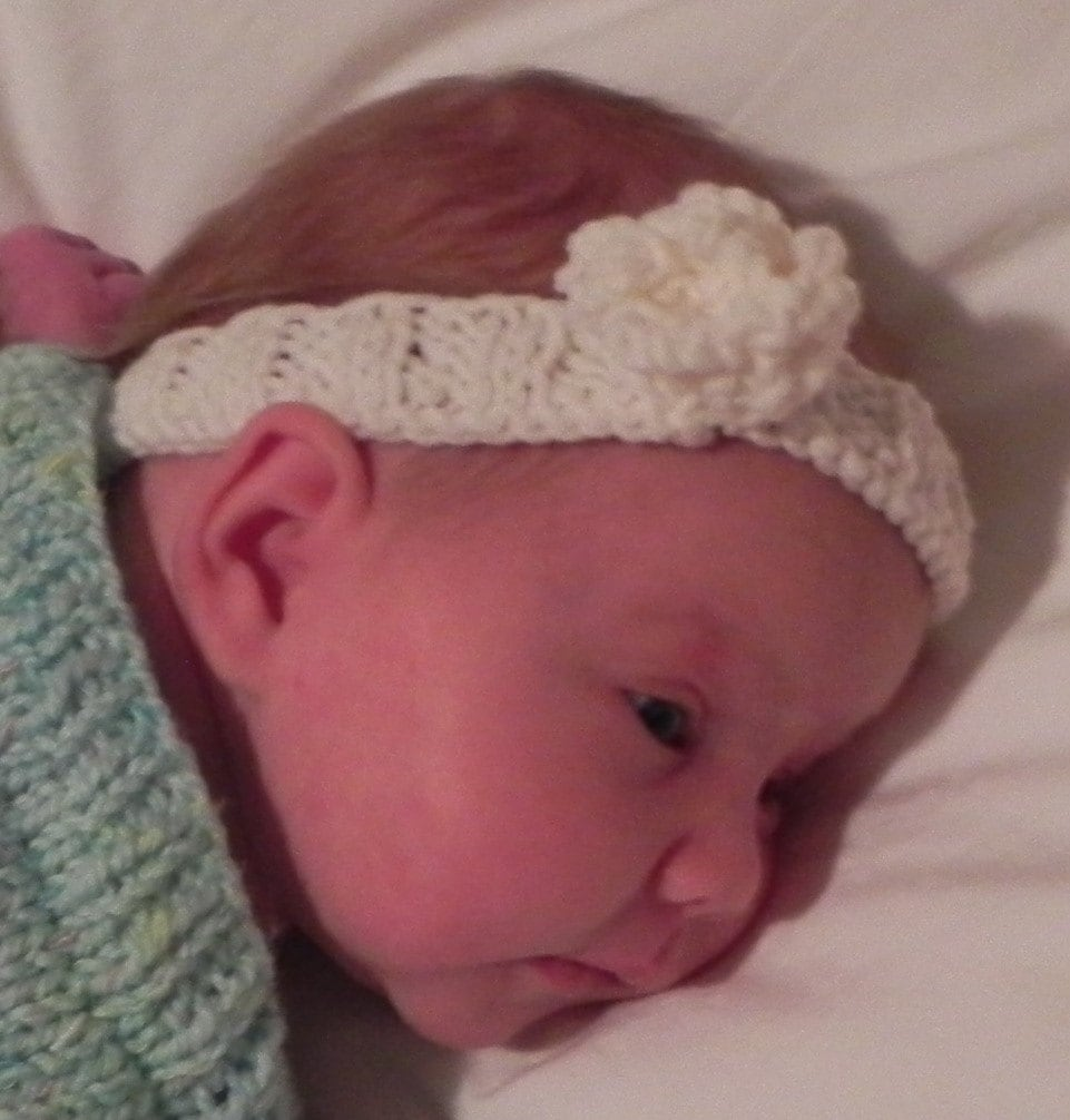 Childs Knitted Headband Pattern : Fleur dAnge Baby and Toddler Headband Knitting Pattern