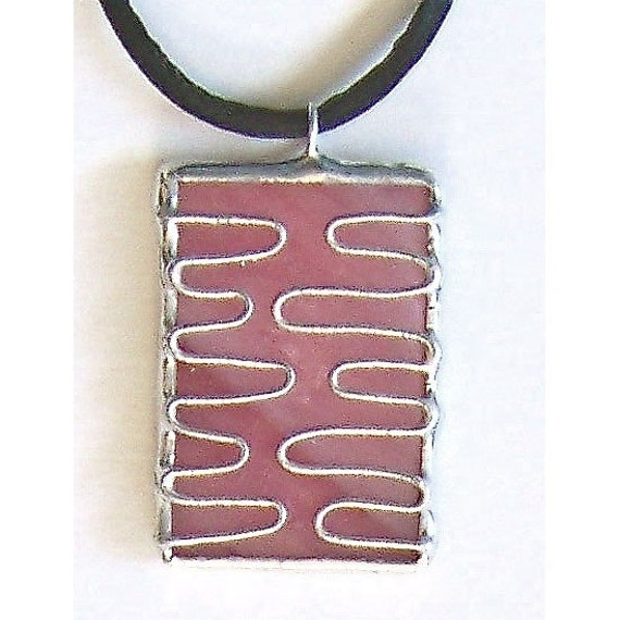 Stained Glass Necklace or Choker, handmade jewelry