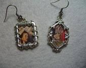 Alice in Wonderland and Rabbit earrings