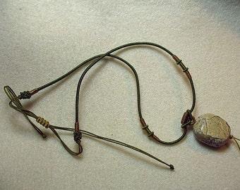 Jasper focal on Japanese woven cord