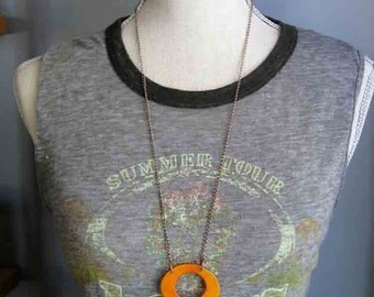 Pink and Orange Long Necklace OtherColorsAvailable
