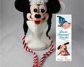 Crochet Pattern 040 - Mr Christmas Santa Mouse Beanie Hat - All Sizes