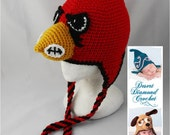Crochet Pattern 056 - University of Louisville Cardinal Hat - All Sizes