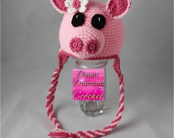 Pig Hat - Any Color - Any Size