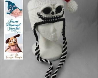 Crochet Pattern 044 - Santa Skeleton Hat - All Sizes