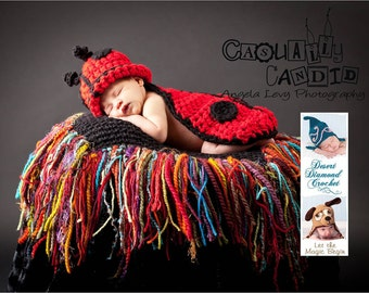 Custom Order - Cuddle Critter Cape - Ladybug - Newborn Photography Prop