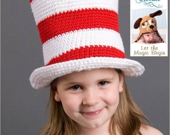 Crochet Pattern 002 - Cat In The Hat - All Sizes