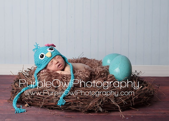 Bluebird Hat - any color - any size - photography prop