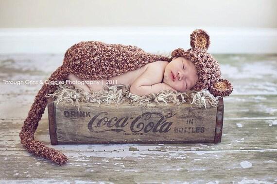 Chunky Monkey Cuddle Critter Cape Newborn Photography Prop