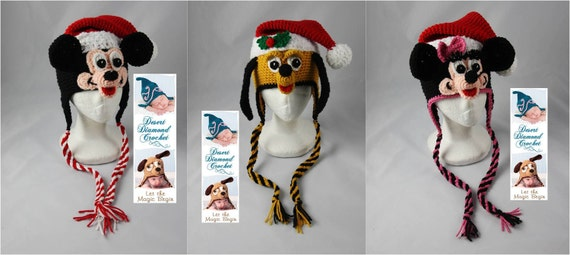 Santa Hat Pattern Pack 2 - All Sizes - 3 Patterns