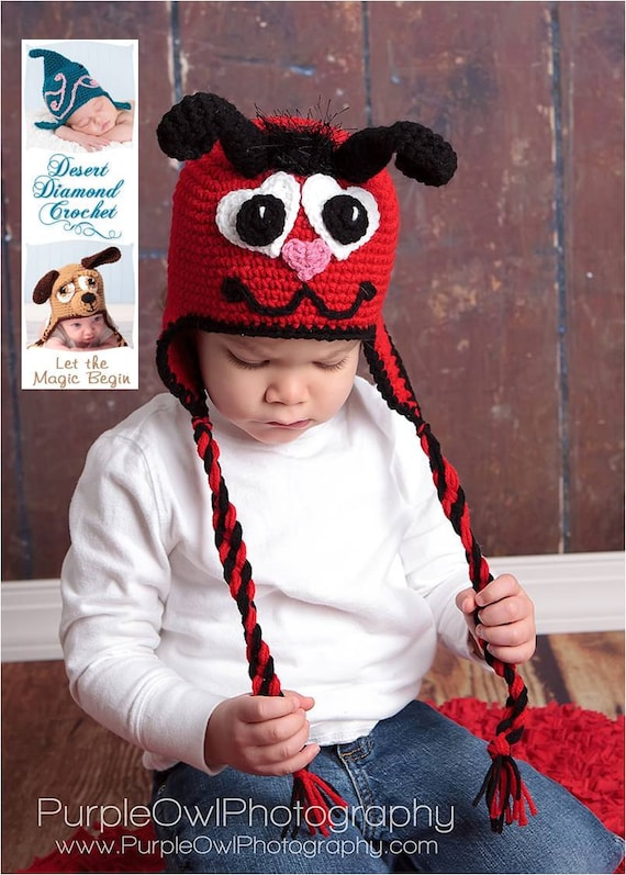 Love Bug Earflap Beanie - Any Colors - Any Size
