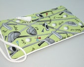 Golf wristlet - sports theme pouch clutch