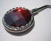 Swarovski Crystal Purse Hanger - Red Magma