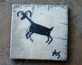 Pottery Anasazi Raku Art Tile