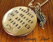 Carried to Heaven Sterling Silver Angel Wing Necklace by Carmen Bowe