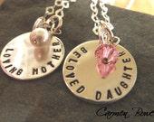 Custom Sterling Duo Necklace Set by Carmen Bowe