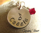 Custom Music Note Necklace by Carmen Bowe