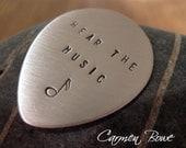 Custom Sterling Silver Guitar Pick by Carmen Bowe