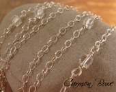 Celebrity Inspired Extra Long Sterling and Crystal Necklace by Carmen Bowe