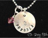 Classic Birth Date Charm Necklace by Carmen Bowe