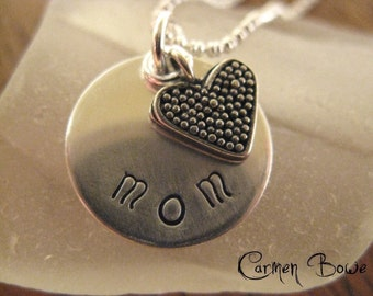 Last One - Custom Heart Charm Necklace by Carmen Bowe