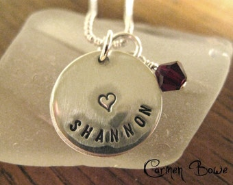 Sterling Sweethheart Necklace by Carmen Bowe