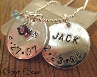Twice As Nice - Personal Reflection Charm Necklace by Carmen Bowe