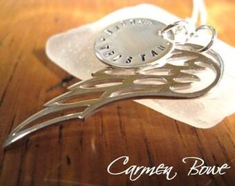 Custom Sterling Angel Wing Necklace by Carmen Bowe