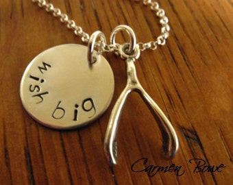 Custom Sterling Wish Big Charm Necklace by Carmen Bowe