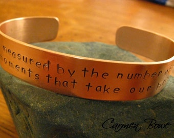 Personalized Thick Copper Cuff Bracelet by Carmen Bowe