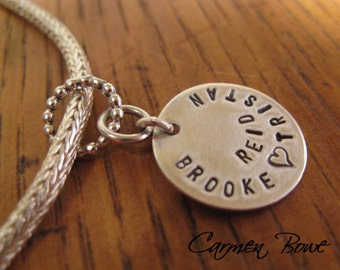 Own it - Personalized Sterling Silver Charm by Carmen Bowe