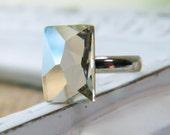 cosmic.  Crystal Silver Shade Swarovski Cocktail Ring