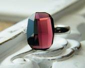 romance ring.  Amethyst Swarovski Cocktail Ring