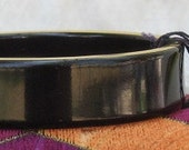 Black and Gold Lucite Bracelet Vintage Bangle NWT