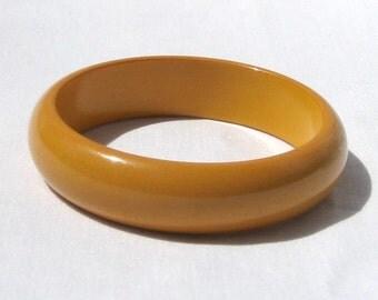 Bakelite Butterscotch Bangle Bracelet