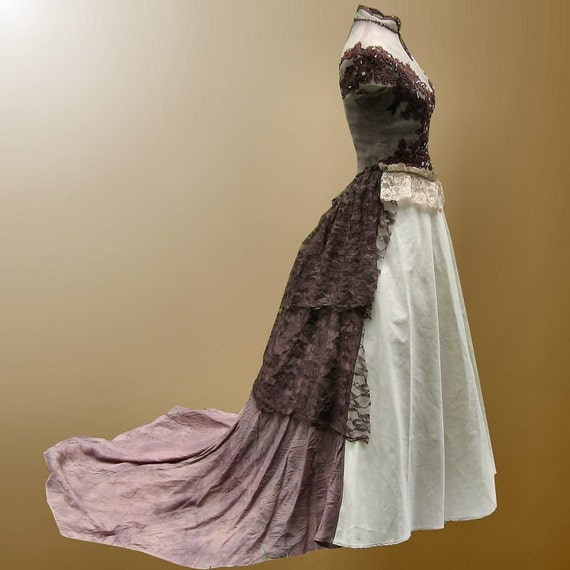 tattered ragamuffin gown