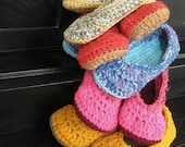 Handmade Womens Slippers Any Two Color Combo women sizes 3-12 available