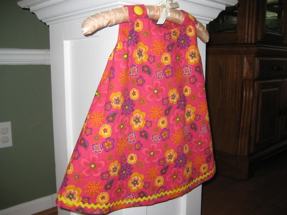 Toddler Dress, Pink Multicolored Floral, Size 2T