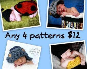 Any 4 Crochet Patterns
