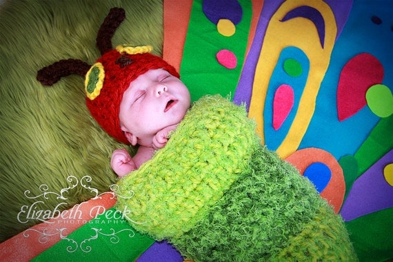Cocoon inspired by The Very Hungry Caterpillar Crochet Pattern INSTANT DOWNLOAD