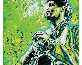 Dexter Gordon - Jazz Saxophonist -  12 x 12 High Quality Pop Art Print
