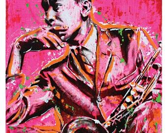 Lee Morgan - Hard Bop Trumpeter - 12 x 12 High Quality Pop Art Print