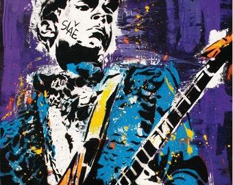 Prince - Purple Rain - 12 x 18 High Quality Pop Art Print